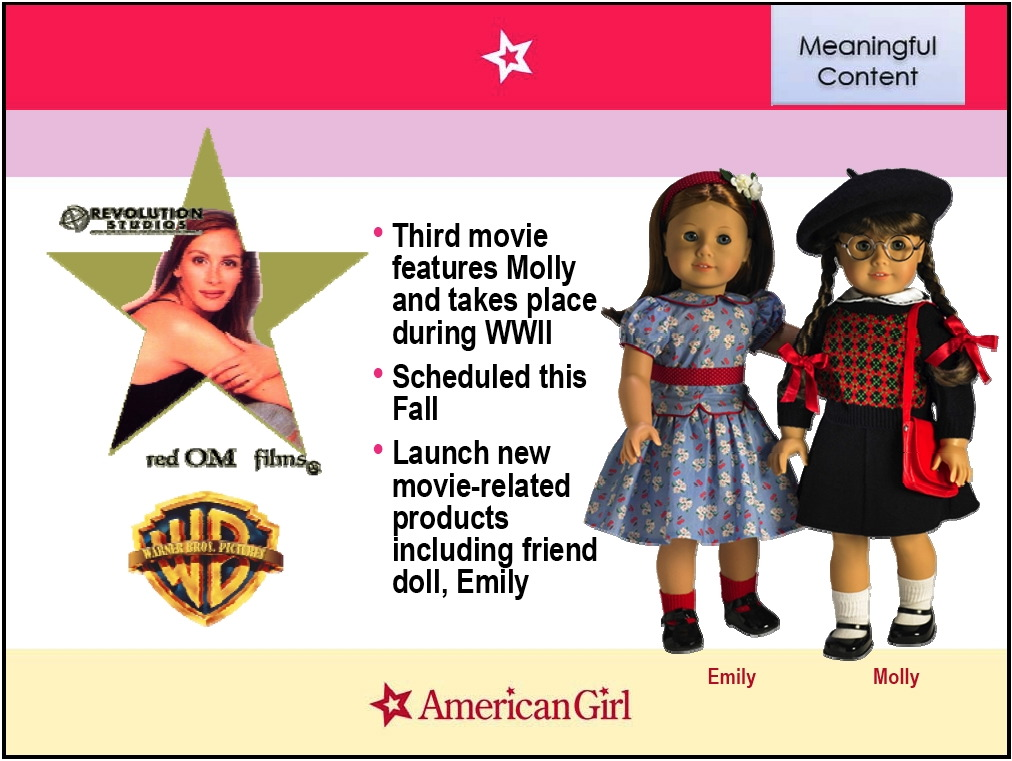 2001 RETIRED AMERICAN GIRL MOLLY HALLMARK STICKERS PICTURES FROM 1ST BOOKS