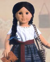American Girl Doll Josefina Retired Christmas Dress Outfit Socks ONLY PC